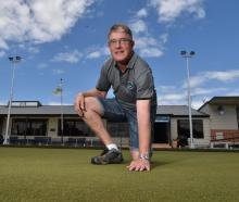 Taieri Bowling Club greenkeeper and manager Rob Gibson on the club's green before the national...