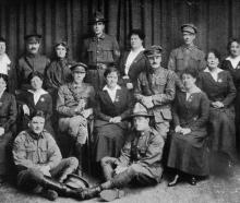 Back row (from left): Mrs Cusack (Capetown), Sergeant-major Cullen, Mrs Boden (Brisbane),...
