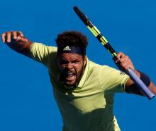 Jo-Wilfried Tsonga in action against Denis Shapovalov at the Australian Open. Photo Reuters