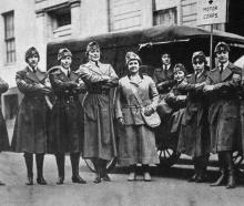 American Red Cross nurses: Some of the Washington Liberty Ambulance Corps included in the 20,000...