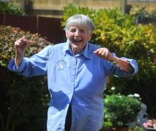 Zita Menzies shows her style as she gets ready for next month's New Zealand Masters Games in...