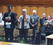 New citizens and their supporters at a ceremony at the Clutha District Council. Photo: David...