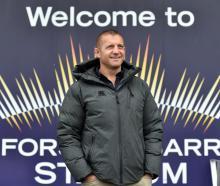 Otago coach Ben Herring at Forsyth Barr Stadium this week. Photo: Peter McIntosh