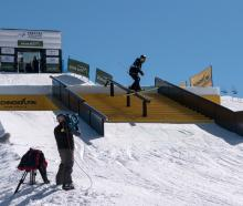 Wanaka freeskier Finn Bilous in action at the slopestyle world cup event in Seiser Alm, Italy, at...