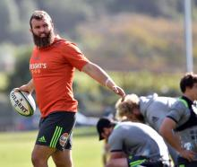 Highlanders hooker Liam Coltman gets ready for training at Logan Park this week. Photo: Peter...