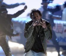 Kendrick Lamar performs. Photo: Reuters