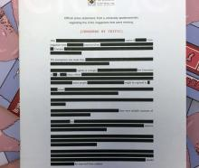 The cover of the latest issue of student magazine Critic Te Arohi features a heavily redacted...