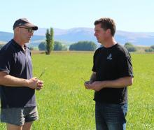 Glenlapa farmer Dylan Ditchfield and land sustainability officer Karl Erikson. Photo: Supplied.