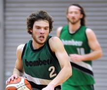 Matt Bardsley in action for the City Rise Bombers against the Andy Bay Falcons on Saturday as...