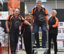 Mitre 10 Mega staff (from left) Chris Bremner, Bev Newman, John Wards and Michelle Blampied...