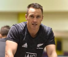 All Black Ben Smith works out at the Les Mills gym in Dunedin yesterday. PHOTO: GREGOR RICHARDSON