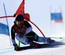 Alice Robinson of New Zealand competes during the Ladies' Giant Slalom at PyeongChang earlier...