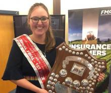 Young Southland dairy farmer Brooke Flett has won the Young Farmers national stock-judging...