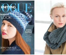 Designs created by Mrs Craig for Vogue Knitting include hats and cowls. Photo: Supplied