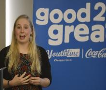 Dunedin nursing student and co-founder of Sticks'n Stones anti-bullying campaigner Ashleigh Smith...