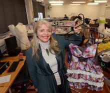 iD Dunedin Fashion Week Committee chairwoman and Otago Polytechnic lecturer Margo Barton shows...