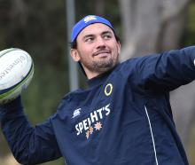 Otago captain and hooker Sam Anderson-Heather at training at Logan Park yesterday. Photo: Peter...