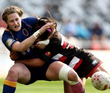 Georgina McCullough of Otago is tackled. PHOTO: Getty Images