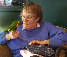 Jan Shallard, here with her friend's rainbow lorikeet Gary, was blown away by the kindness of...