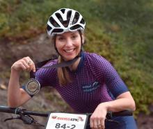 Endurance mountain biker Haley Van Leeuwen at her home in Waverley yesterday. Photo: Peter McIntosh