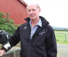 Graham White with his dog Ladd. Mr White will head to Australia early in October to judge the...