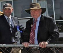 Horse convener Lyndon Morris (right) chats to fellow Northern (Rangiora) A&P Association...