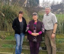Southland farmers Sheena Casey (left) and parents Jan and Adam McCall are delighted crossbred...
