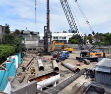 The site of the new University of Otago music and performing arts centre on Union St East on...