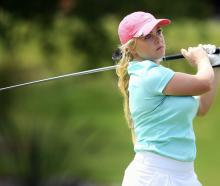 Laura Hoskin playing in the New Zealand amateur championships at Wairakei Golf Club, near Taupo,...
