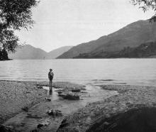 Queenstown Bay, Lake Wakatipu: view from the Esplanade. — Otago Witness, 6.11.1918.