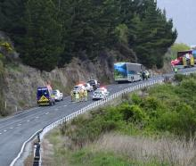 The scene of a recent crash near the Devil's Staircase, SH6. Photo: File