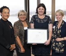 Escalator graduate Kelly Heckler (second from right) with (from left) Labour MP Kiritapu Allan,...