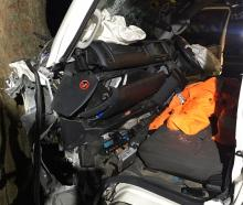 Emergency services were called to a crash near Bannockburn early this morning after a van hit a...