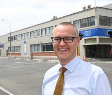 Health Minister David Clark at the proposed site of Dunedin's new hospital. Photo: Linda Robertson
