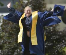 Kathy Howard (31) prepares to graduate from Otago Polytechnic. PHOTO: GERARD O'BRIEN