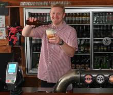 Behind the bar at Starters Bar, recently bought by the Otago University Students' Association ...