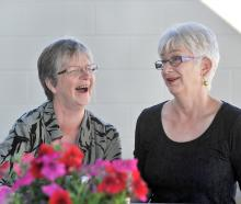 Taieri College mathematics teachers Gwenda Hill (left) and Sally Shanks will retire next week,...
