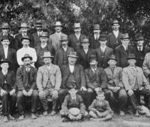 The committee of the Berwick Caledonian Society. Back row (from left): D. McPherson, C. Campbell,...