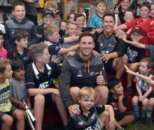 Black Caps bowlers Matt Henry (left) and Trent Boult inspire a future generation of active...