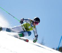 Queenstown skier Alice Robinson is action at the World Cup final giant slalom in Soldeu, in...