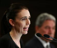 Prime Minister Jacinda Ardern and Deputy Prime Minister Winston Peters speak about gun laws...