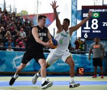 Max De Geest in action for New Zealand at the 3x3 tournament of last year's Youth Olympics in...