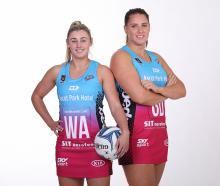 New Southern Steel co-captains Gina Crampton and Te Huinga Reo Selby-Rickit. Photo: Supplied