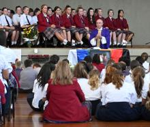 The Kavanagh College gymnasium was packed for a special Mass dedicated to principal Tracy O'Brien...