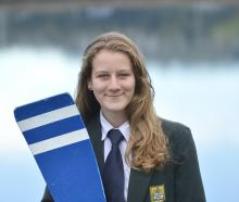 Bayfield High School year 12 pupil Eva Hofmans (16) at the inlet by the school last week after a...