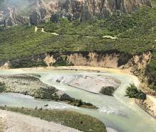 Erosion at the Clay Cliffs at Lake Benmore, near Omarama. The Upper Waitaki Zone Water Management...