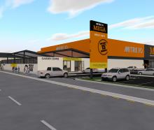 An artist's impression of Oamaru's Mitre 10 Mega store, expected to open in early 2020. PHOTO:...