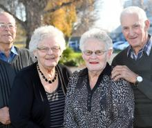 Balclutha twins Diana Tweed (right) and Deanna Benington, and their respective husbands Gilbert...