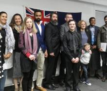 New citizens (from left): Graham Hadley (United Kingdom), Elina Kiuru (Finland), Heloisa Thompson...