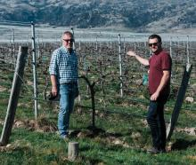 Domaine-Thomson Wines co-owner David Hall-Jones (left) and viticulturist Simon Gourley are...
